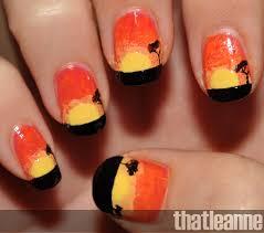 thatleanne african sunrise nail art
