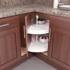 Kitchen Corner Cabinet by Furniture Shaker Corner Cabinet Lazy Susan With Two Doors For