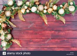 festive border in gold green and white with assorted