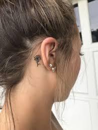behind ear tattoos purple hearts pinterest tattoo tatting