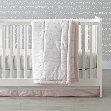 Cloud Crib Bedding Iconic Pink Clouds Crib Bedding Crate And Barrel