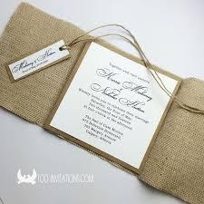 wedding invitations calgary sackcloth wedding invitations for farm wedding theme