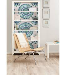 Peal And Stick Wall Paper Wallpops Nuwallpaper Jasmine Medallion Peel And Stick Wallpaper