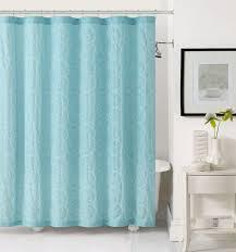 Turquoise Shower Curtains Light Aqua Blue Fabric Shower Curtain White Circle Swirl