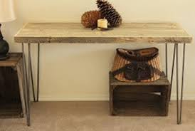 Table With Shelves Reclaimed Wood Side Table For Living Room