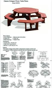 Design For Octagon Picnic Table by 80 Brilliant Diy Backyard Furniture Ideas That Will Give Your