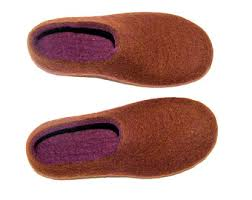 Rugged Slippers Felted Wool Slippers House Wool Shoes Hygge Gift Boiled