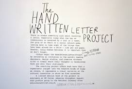 exhibition hand written letter project creative review