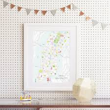 Show Me A Map Of New York by Map Of Chiswick Art Print Various Sizes Holly Francesca