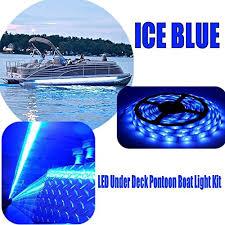 pontoon boat led light kits restorepontoon boat under deck led lighting kit ice blue online