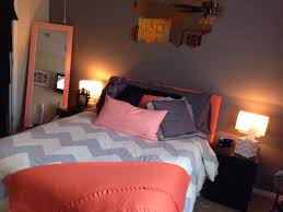 Peach Color Bedroom by Coral Peach U0026 Grey Chevron Bedroom My Pins Pinterest Grey