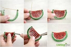 make seed bead necklace images Seed bead necklace tutorial how to make a seed bead watermelon jpg