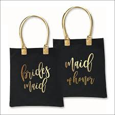 bridal party tote bags bridal party gold foil heavyweight canvas tote bag peters