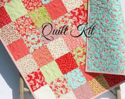 Cottage Quilts And Fabrics by Baby Quilt Kit True Luck Stephanie Ryan For Moda