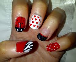 classic red nail designs heart zestymag