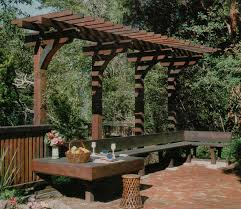 overhang pergola nice seating area repinned by normoe the
