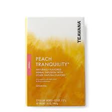 teavana peach tranquility full leaf tea sachets teavana