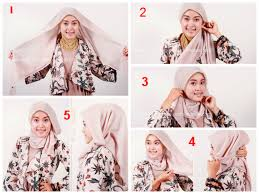 tutorial memakai jilbab paris yang simple tutorial hijab paris simple untuk wajah bulat tutorial hijab