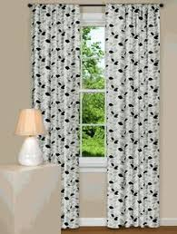 Leaf Pattern Curtains Interior Beautiful Green White Floral Curtain Window With Showy