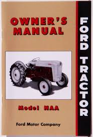 ford tractor owners manuals