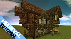 minecraft simple medieval house tutorial minecraft pinterest