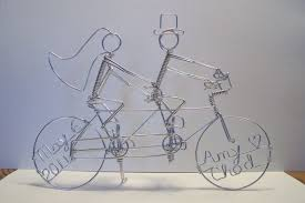 bicycle cake topper wedding cake topper tandem bikes tandem bike cake topper isure