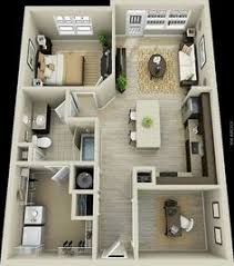 Apartment Designs And Floor Plans 50 One U201c1 U201d Bedroom Apartment House Plans Apartment Floor Plans