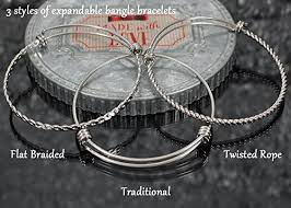 personalized bangle bracelets custom best bitches expandable stainless steel bangle bracelet with