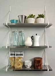interior decorating kitchen shelves with regard to voguish