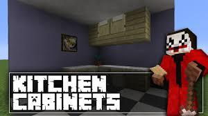 minecraft kitchen cabinets tutorial youtube
