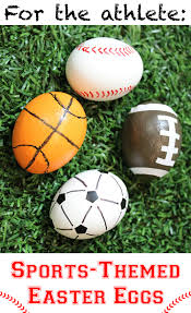 sports easter eggs egg decorating ideas sports themed easter egg and easter crafts