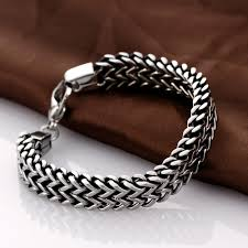 metal mens bracelet images 2017 mens bracelets bangles 5 12mm 316l stainless steel wrist jpg