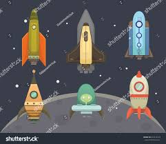 rocket ship cartoon style new businesses stock vector 622419149
