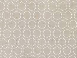 natural beige and ivory hexagon curtain fabric by the yard