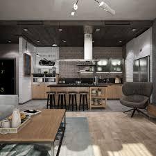 apartment color schemes open concept l shaped kitchen design