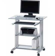 Movable Computer Desk Furniture Mobile Computer Desk For Your Home Office Design