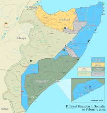Map States by File Somalia Map States Regions Districts 10 February 2012 Png