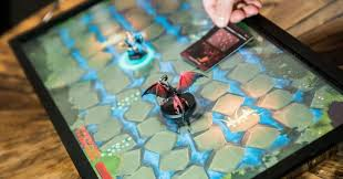 play table board game console game time blok party reveals a blockchain based game console