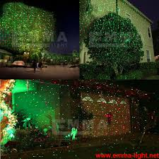 and green elf laser lights christmas lights garden decorative tree