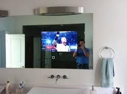 mirror bathroom tv bathroom creative tv behind mirror bathroom decoration ideas