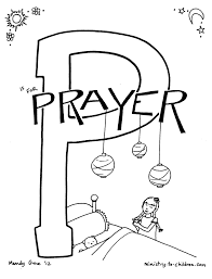 coloring pages p is for prayer