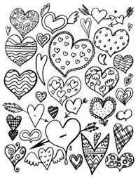 valentine heart swirls coloring projects