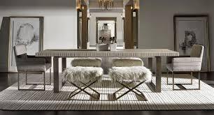 Universal Furniture Dining Room Sets Modern Robards Rectangular Dining Set Quartz W End Benches