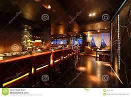 bar counter bar counter with chairs in empty restaurant royalty free stock
