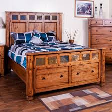 Queen Storage Beds With Drawers Market Square Morris Home Queen Bed W Storage In Footboard