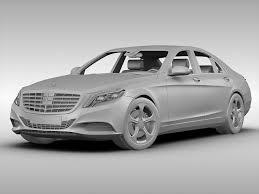 mercedes model mercedes s class 2014 3d cgtrader