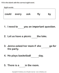 complete sight words in sentences worksheet turtle diary