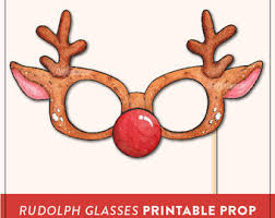 christmas photo booth props felt photo booth props and printable props by perfectionate