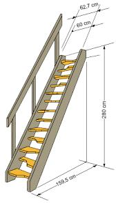 platzbedarf treppe raumspartreppe softline gs treppen shop