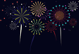 new year backdrop fireworks background colorful sparkles on backdrop free